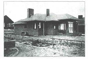 cottage-leien dak afbeelding