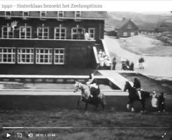 Haagsefilmbank-archieven-3159-Sinterklaas bezoekt Zeehospitium-1940