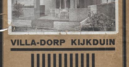 wervingsfolder Villa-dorp Kijkduin - 1923
