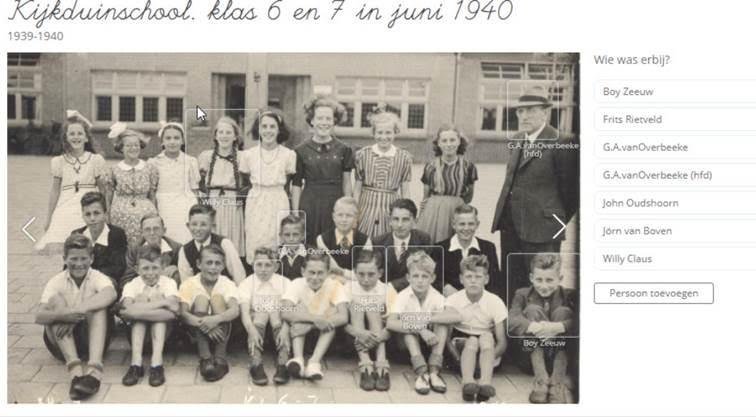 06-1940 - Schoolbank -Kijkduinschool klas 6 en 7